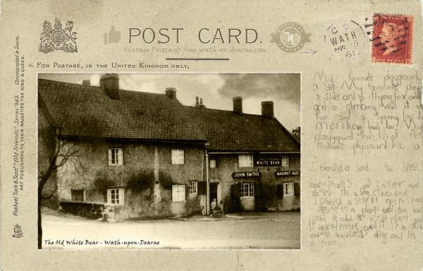Post Card - The Old White Bear